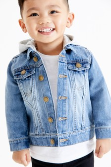 Denim Hooded Jacket (3mths-7yrs)