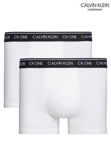 Lot de deux boxers Calvin Klein blancs