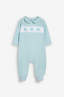 Smart Smock Detail Sleepsuit (0mths-2yrs)