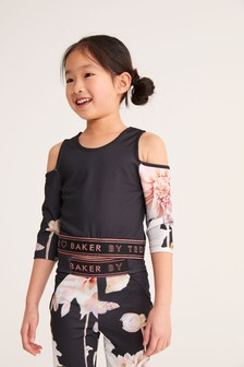 Baker by Ted Baker Black Cold Shoulder Top