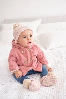 Veste en velours côtelé à capuche et doublure en polaire (0 mois - 2 ans)