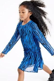 Шифоновое платье с принтом (3-16 лет)