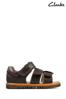 Sandalias de piel marrones Frances Tor T de Clarks