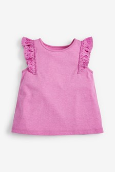 Broderie Frill Vest (3mths-8yrs)