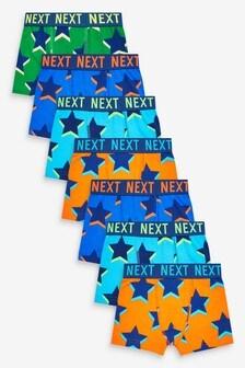 7 Pack Star Print Trunks (2-16yrs)