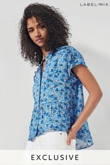 Mix/Brogger - Blusa a fiori blu