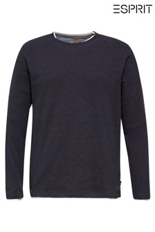 Esprit Blue Long Sleeved 2-In-1 T-Shirt
