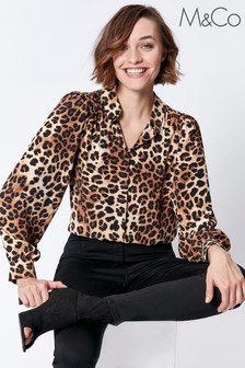 M&Co Leopard Animal Print Shirt