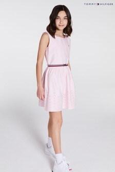Tommy Hilfiger Shiffley Hemd mit Verzierung am Saum, Pink