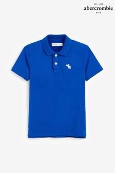 Abercrombie & Fitch Polohemd, Blau