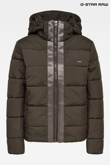 G-Star Dark Green Meefic Hooded Padded Jacket