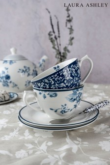 Set of 2 Laura Ashley Blueprint Collectables Cup and Saucer