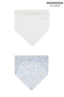 Monsoon藍色花卉及刺繡頭巾套裝