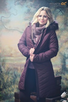 Regatta Kimberley Walsh Edit Purple Fritha Insulated Jacket