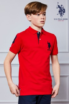 U.S. Polo Assn. Double Horsemen Large Pique Poloshirt