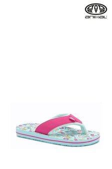 Animal Green Swish All Over Print Flip Flops