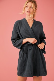 Textured Cotton Robe