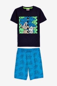 Pijama cu pantalon scurt Sonic (3-12ani)