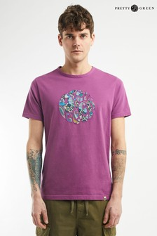 Pretty Green Ditsy Appliqué T-Shirt