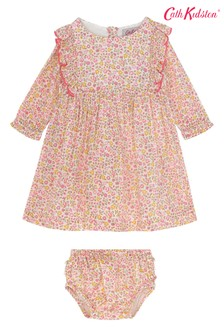 Detské kvietkované šaty Cath Kidston® Ashbourne s volánikmi