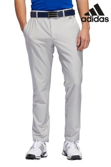 adidas Golf Grey 3 Stripe Tapered Trousers