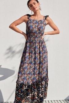 織紋長洋裝