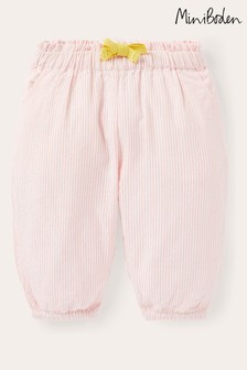 Boden Pink Woven Paperbag Trousers