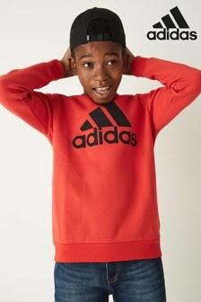 adidas Red Logo Crew Sweatshirt