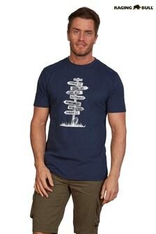 Raging Bull Blue Sign Post T-Shirt