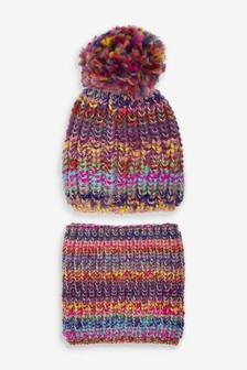 Knitted Hat And Snood Set (Older)