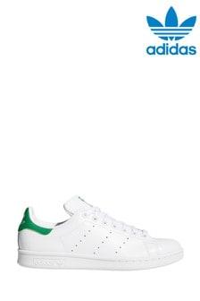 Бело-зеленые кроссовки adidas Originals Stan Smith