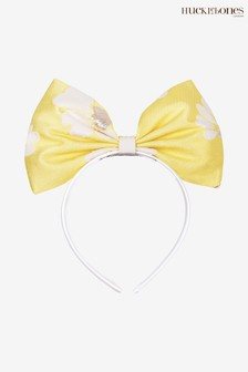 Hucklebones Yellow Floral Bow Hairband