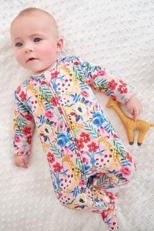 Fleece Lined Sleepsuit (0mths-2yrs)