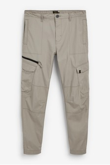Elasticated Tech Cargo Trousers