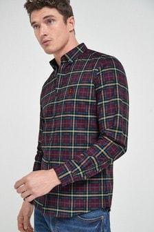 Long Sleeve Check Stretch Oxford Shirt