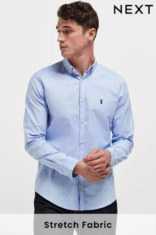 Long Sleeve Stretch Oxford Shirt (672808)   $35