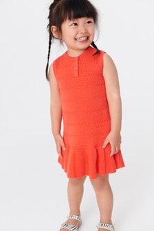فستان محبوك بدون أكمام (3 شهور -7 سنوات)