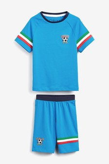 Italy Football Short Pyjamas (3-16yrs)