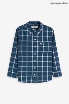 חולצה של Abercrombie & Fitch דגם Window Pane בכחול