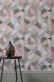 Paste The Wall Smokey Hexagons Wallpaper