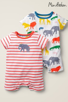 Boden Multi Rompers Two Pack