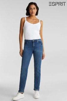 Esprit Blue Straight Denim Pants