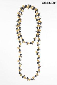 White Stuff Yellow Verity Versatile Disc Necklace