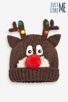 """Детская рождественская шапка с дизайном """"северный олень"""" (коллекция для всей семьи) (Младшего возраста)"""