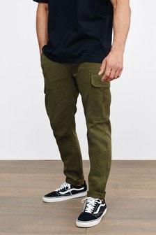 Эластичные хлопковые брюки карго