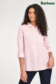Barbour® Coastal Oversize Hemd mit Streifen aus Leinenmischgewebe