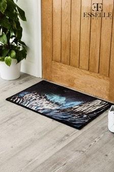 שטיחון כניסה ניתן לכביסה דגם Hale Cobalt Feathersשל Pride Of Place
