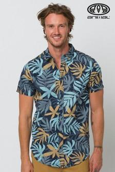 Animal Indigo Blue Flanagan Short Sleeve Shirt
