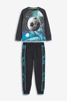 Пижама с принтом галактики и футбольного мяча (3-16 лет)