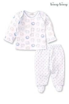 Kissy Kissy White Sheep Pyjama Set
